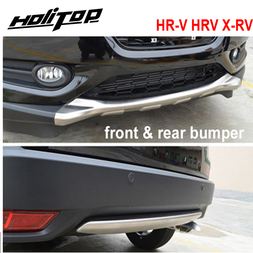 for Honda HR-V HRV X-RV front&rear bumper skid plate,2pcs/set,best stainless steel, ISO9001 quality supplier,promotion pricefor Honda HR-V HRV X-RV front&rear bumper skid plate,2pcs/set,best stainless steel, ISO9001 quality supplier,promotion price