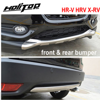 for Honda HR V HRV X RV front&rear bumper skid plate,2pcs/set,best stainless steel, ISO9001 quality supplier,promotion price