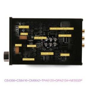 Image 4 - KGUSS DAC K3 MINI HiFi 2.0 Digital Audio Decoder DAC Ingresso USB/Coassiale/Ottica di Uscita RCA/Amplificatore Per Cuffie 24Bit/96 khz DC12V