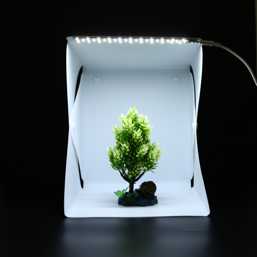 Portable Foldable Lightbox Photography Studio Softbox Dimming LED Light Camera Photo Background for High Quality Photo high quality foldable 70cm photo studio beauty dish speedlite octabox softbox inner sliver or diffuser