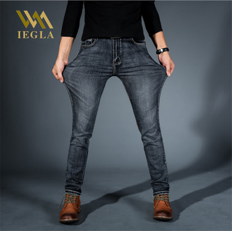 Jeans For Men Stretch Mid Waist Blue Black Jean Side Stripe Straight Pants Spring Summer Plus Size Classic Pantalon Homme Jean
