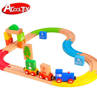 Kids Toys Brinquedos Train Set Wooden Railway Accessories Educational Toys Building Blocks Kids Toy Christmas Gift 29 Piece