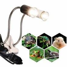 Reptile Pet Lamp Ceramic Heating UVB/UVA Bulb Lamp for Tortoise Aquarium Lighting Lamp Clip Holder Turtle Lizard Habitat
