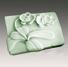DIY Flower Pattern Soap Mold Craft Making Tool Silicone Molding