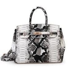 2016 berühmte Branded Luxus Serpentin Leder Tote Handtasche Designer-handtaschen Hohe Qualität Frauen Umhängetaschen Bolsa Feminina