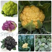 200/МЕШОК семена Цветной Капусты 4 цветов (желтый черный фиолетовый зеленый) капуста семена овощных sementes семена для дома сад