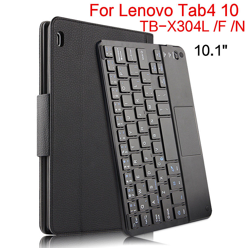 Case For Lenovo Tab 4 10 TB-X304L TB-X304F N 10.1 Protective Cover Bluetooth keyboard Protector Leather PU Tablet Tab4 10 Cases case for lenovo thinkpad 10 keyboard bluetooth with pu cover protective protector leather tablet pc thinkpad10 case 10 1 inch