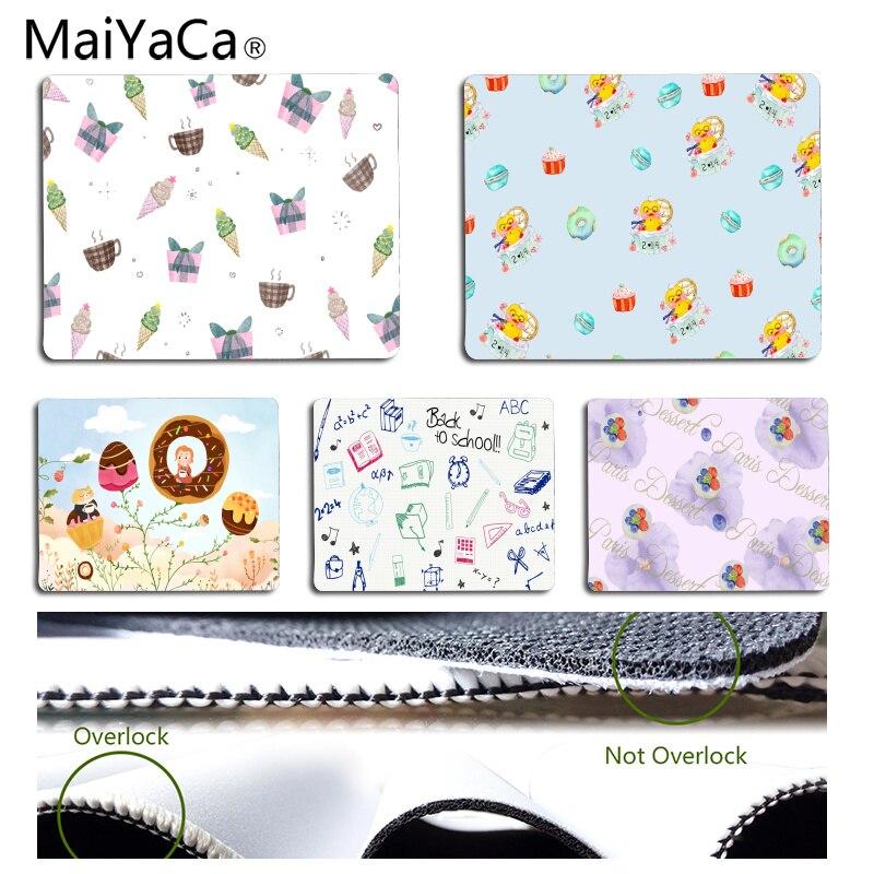 MaiYaCa Нескользящие PC Кофе мороженого Десерт офисных мышей геймер мягкие Мышь Pad Размеры для 18x22 см 25x29 см Резиновые Прямоугольник Мышь коврик