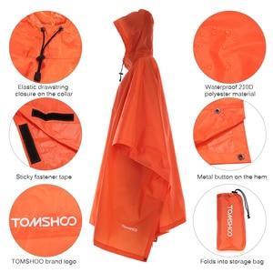 Image 2 - TOMSHOO çok fonksiyonlu hafif yağmurluk Hood ile açık kamp çadırı Mat yürüyüş bisiklet yağmur kılıfı panço yağmurluk