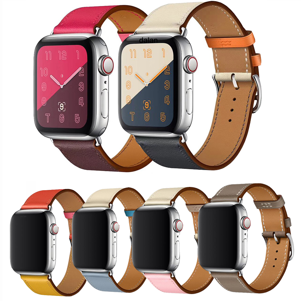 High quality Leather loop for iWatch 4 40mm 44mm Sports