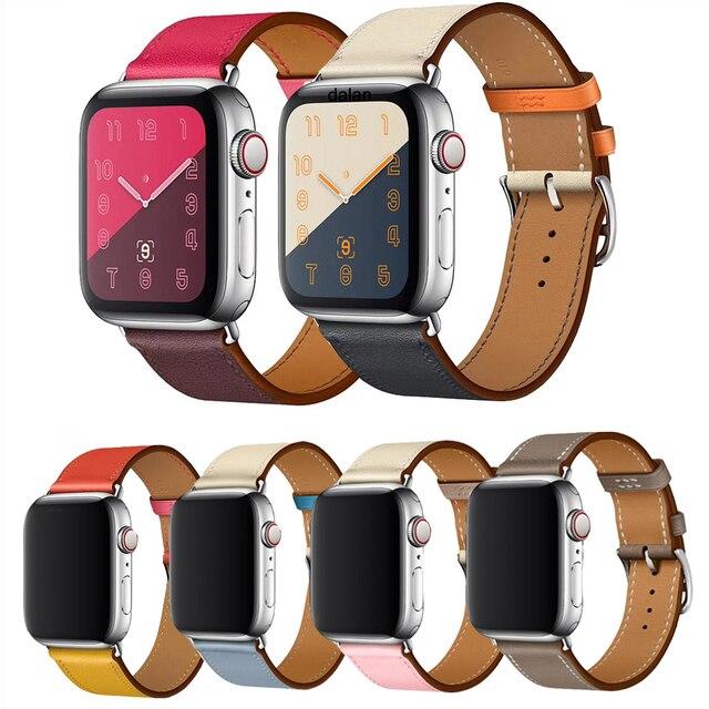Высококачественная кожаная Петля для iWatch 4 40 мм 44 мм спортивный ремешок для Apple watch 42 мм 38 мм Серия 1 и 2 и 3