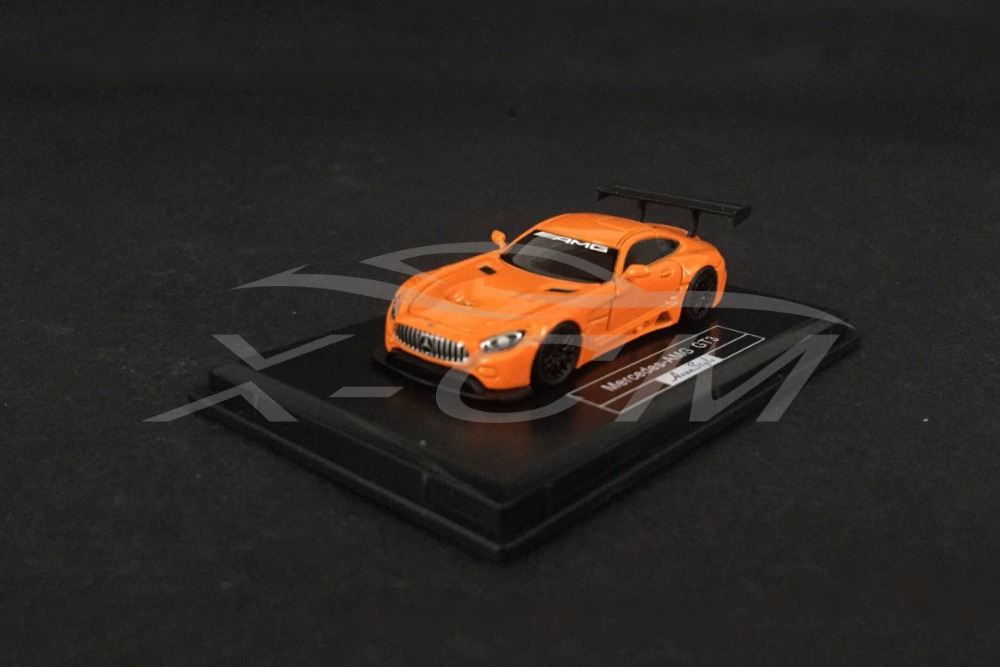 Resin Car Model Avan Style Mercedes Amg Gt3 1 87 Orange Small Gift