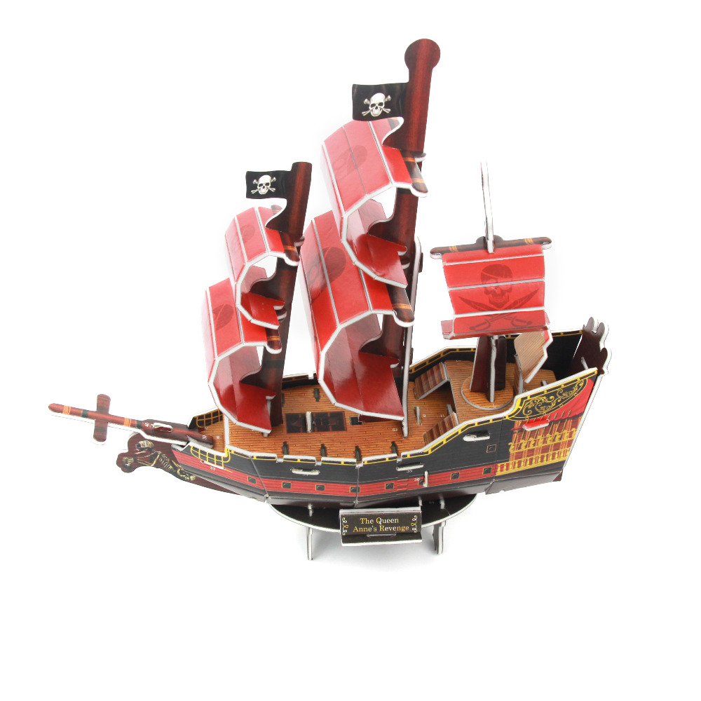 New Transportation Model 3D Pirate Boat Jigsaw Puzzles Educational ...