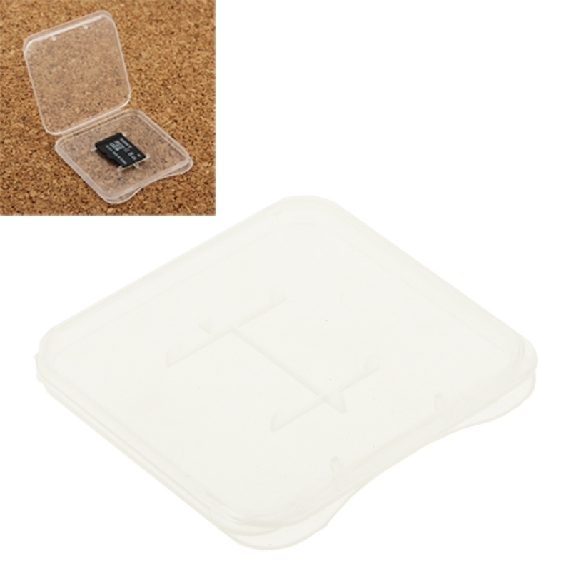 100 PCS Transparent Plastic Storage Card Box For Micro SD Card (TF Card)