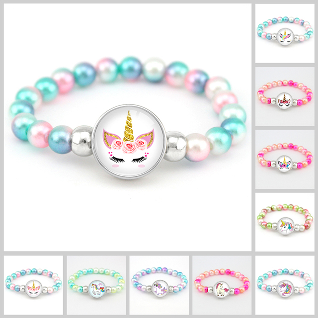 Unicorn Beads Bracelets 18mm