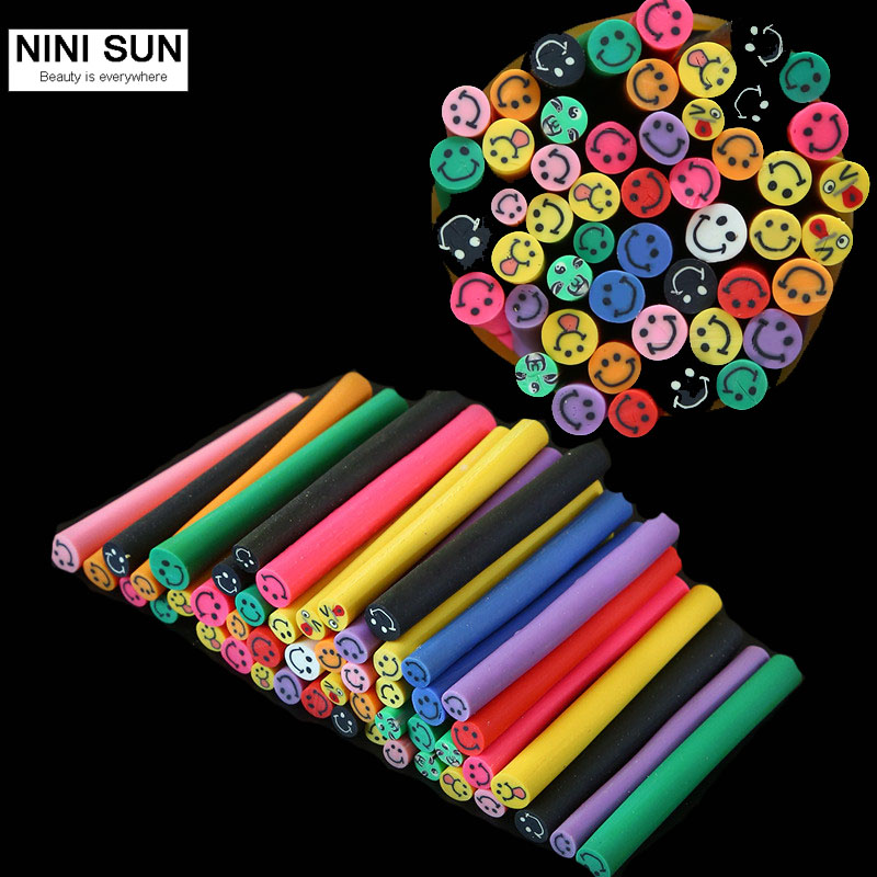 50 pcs set 3d nail art fimo canes stick rods polymer clay for 3d nail art fimo canes rods decoration