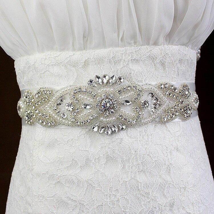 Perle Strass Mariée À faire soi-même Chaîne Strass Robe de mariée Applique Perles Motif