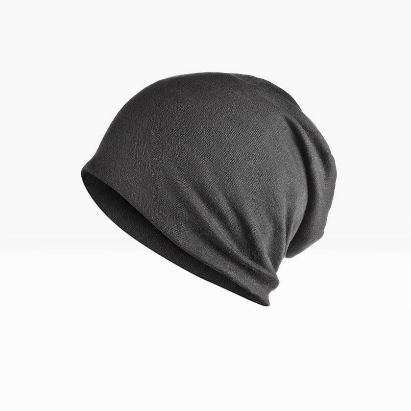 Brand NUZADA Solid Color Unisex Men Women Skullies Beanies Hedging Cap Knit Knitted Cotton Double Layer Fabric Caps Bonnet Hat 5
