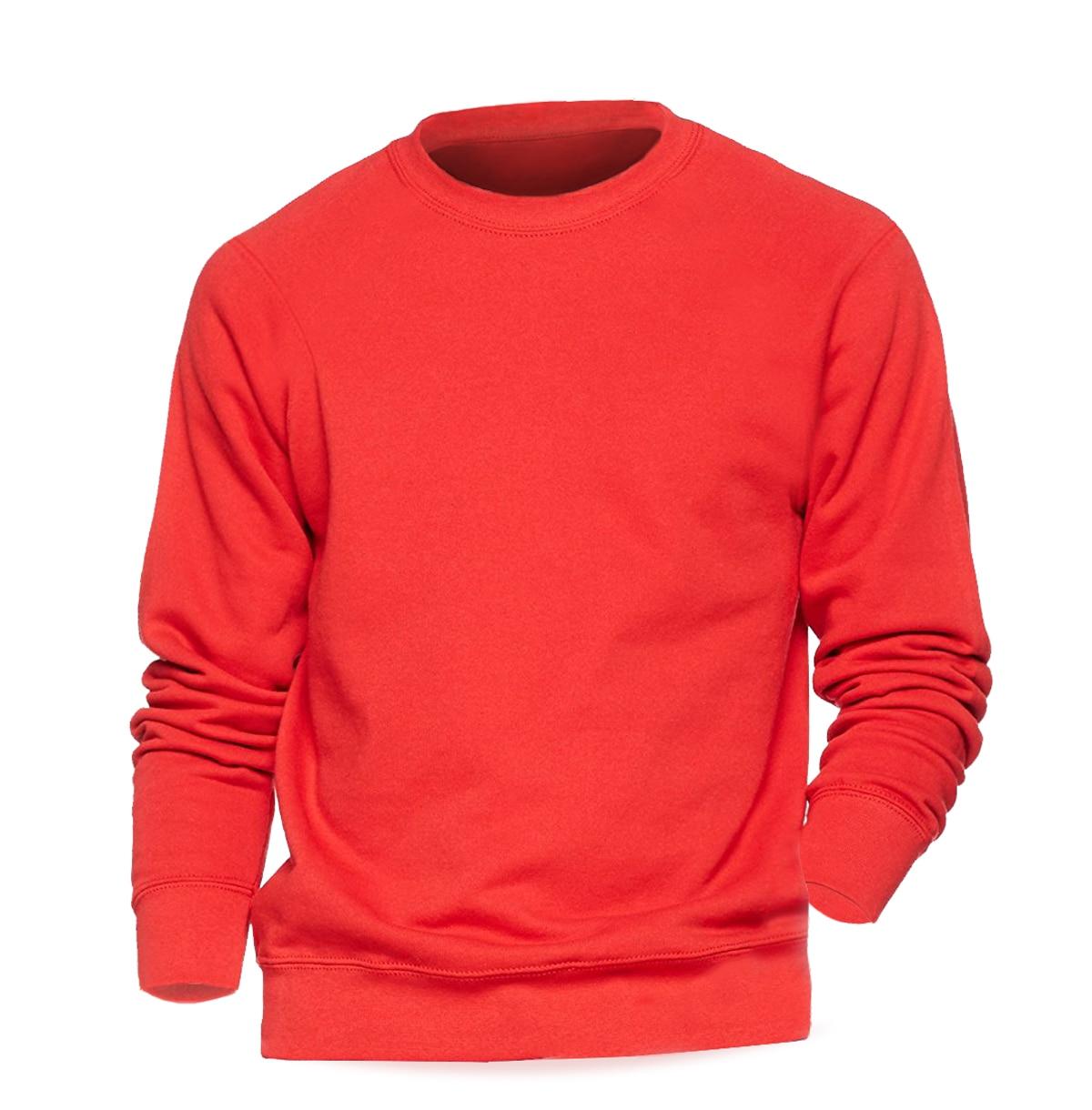 Solid color Sweatshirt Men Hoodie Crewneck Sweatshirts Winter Autumn Fleece Hoody Casual Gray Blue Red Black White Streetwear 5