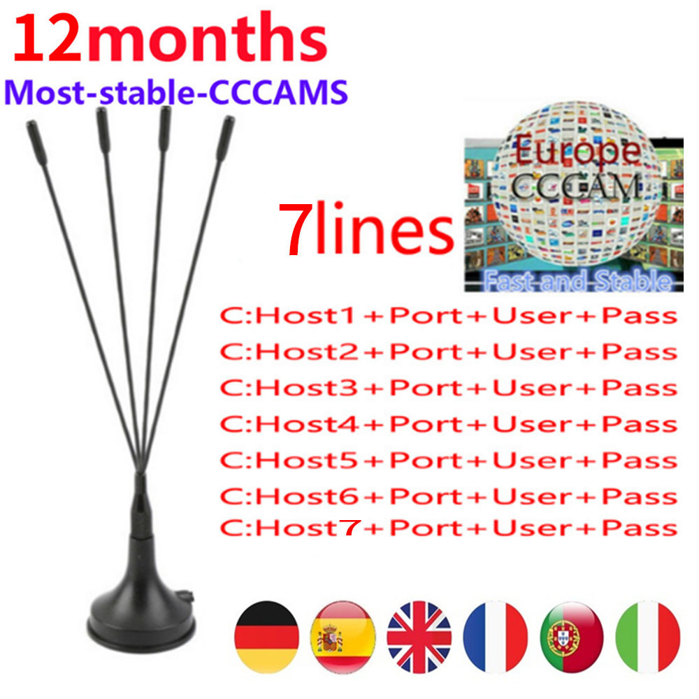 Europe Cccam Cline for 1 year Europe Free Satellite Line Share Sever  Italy/Spain/French/Germany IKS Satellite Receiver