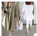 2016 summer new brand fashion loose long shawl women casual linen cotton white shirt ladies thin coat sun protection clothing