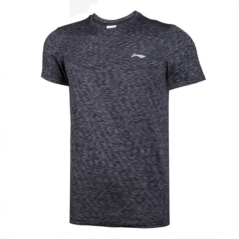 Li-Ning Men Summer Breathable Running T-Shirts 100% Polyester AT DRY O-Neck Short Sleeve Tops LiNing Comfort Sports Tees ATSN073