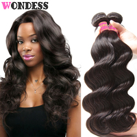 Wondess Hair Malaysian Body Wave 3 Bundles Unprocessed Virgin Hair Extension 8 30 Inch 100% Natural Human Hair Wavy Hair Bundles