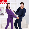 De los hombres Más El Tamaño Modal Suave Larga Pijama Pantalón Y Top Set otoño Invierno Pareja Sexy Ropa Interior de Cuello V Negro Azul Colores #2