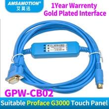 Cable de comunicación de GPW CB02 Amsamotion compatible con Proface GP3000, Cable de programación de pantalla táctil a continuación, adaptador GPWCB02 GPWCB03