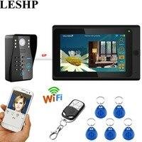 LESHP видео домофон Wi Fi видео звонок 7 дюймов проводной RFID пароль домофон Камера Ночное видение Remote APP разблокировки