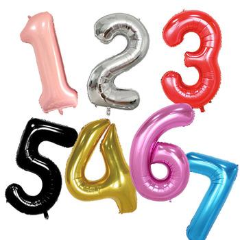 Duże 40 cali różowego złota cyfra balony urodziny wesele przyjęcie zaręczynowe wystrój Globo piłka dla dzieci dostarcza 0-9 helium globos tanie i dobre opinie NoEnName_Null Numer WJ-291-1 Ślub i Zaręczyny Ballon FOLIA ALUMINIOWA 1pcs