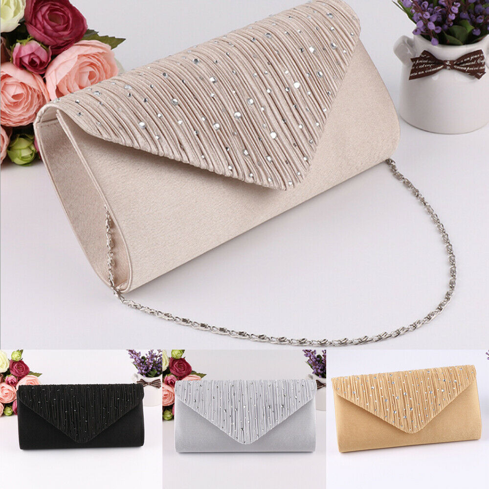 Wallet Party Envelope Phone-Bag Chain Ladies Handbag Female Clutch Diamante Vintage Bolsa-Feminina