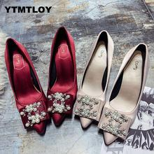 Heels Shoes Women Pumps Solid Elegant High Heels