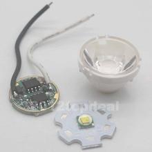 1 комплект Cree XM-L светодиодный T6 белый светильник+ 3,7 в драйвер+ объектив с держателем