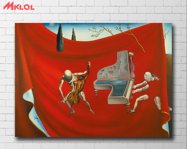 Music The Red Orchestra, 1957 - Salvador Dali Canvas Painting For Living Room Home Decor Oil Painting On Canvas Wall Art 2