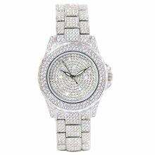 Wrist Watches for Women Famous Top Luxury Brand Watch Quartz Clock Diamond Bracelet Silver Rhinestones Laries Dress Watch