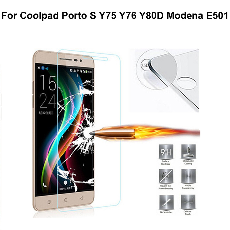 0.3mm Premium 9H 2.5D Tempered Glass Screen Protector For Coolpad E501 E560 Y75 Porto S Protective Film with Free Clean Kits