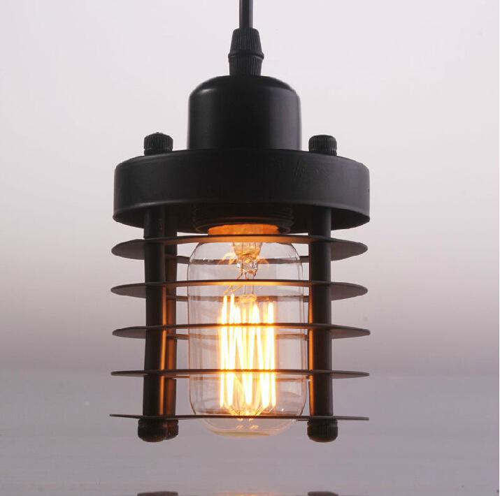 ФОТО Loft Retro iron chandelier pendant E27 40W American rural countryside restaurant retro creative pendant lamps