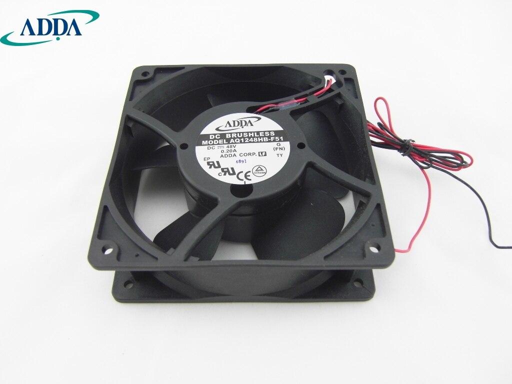 ADDA new waterproof fan humidifier fan fan AQ1248HB-F51 1238 DC48V axial fan 120*120*38mm delta new ffr1212dhe 12038 12cm super fan 12v 6 3a car booster fan violence 120 120 38mm