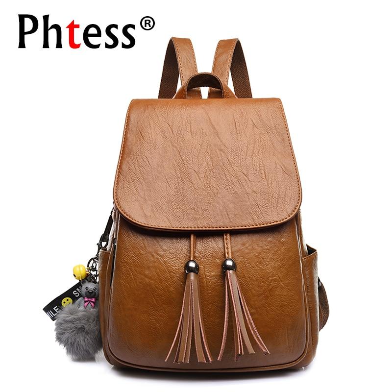 Luxury Backpack Brand Designer Women Leather Backpacks Vintage Back Pack For Girls School Bags Travel Ladies Bagpack Mochilas
