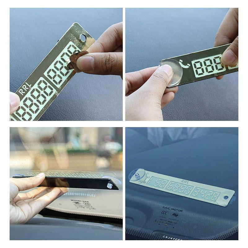 Autocollant de carte de numéro de téléphone de style de voiture 15*2cm nuit lumineuse temporaire carte de stationnement de voiture plaque Suckers carte de numéro de téléphone