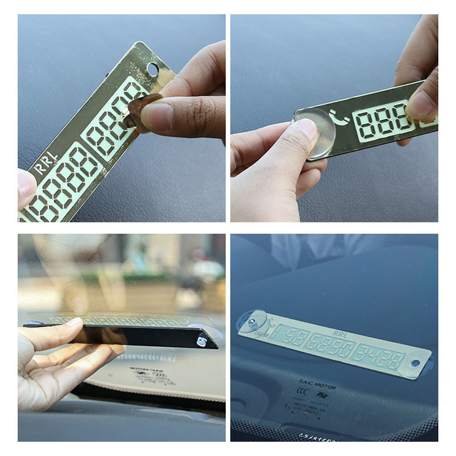 Car Styling Telephone Number Card Sticker 15*2cm Night Luminous Temporary Car Parking Card Plate Suckers Phone Number Card 5