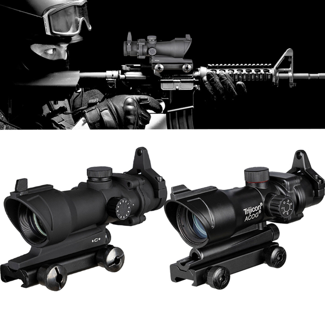Trijicon ACOG 1X32 Red Dot Sight Optical Rifle Scopes ACOG Red Dot Scope Hunting Scopes With 20mm Rail for Airsoft Gun 1