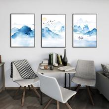 3Pcs/Lot Handpainted Oil Painting On Canvas Color Blue alpine Abstract Modern Wall Art Living Room Decor