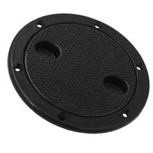 Black 4 Inch Access Hatch Round Inspection Hatch Cover Twist Screw Out Deck Plate for Boat RV Marine Black