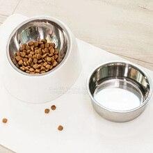 Youpin tazón de perro de acero inoxidable, comida para gatos, bebida, comedero inclinado con BaseSupplies, platos de alimentación antideslizantes