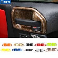 MOPAI ABS 2 двери интерьер дверные ручки чаши декоративная крышка отделка Стикеры для Jeep Wrangler JK 2011 до автомобильные аксессуары укладки