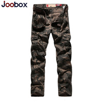 JOOBOX Brand Camouflage Long Pants Men Autumn Winter Multi Pocket Military Male Trousers Khaki Casual Straight Pants Cargo Pants