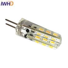 IWHD 10pcs/lot G4 LED Lamp 1W 100LM DC 12V Bi-pin Light 24 LEDs SMD5730 3000K/6000K Clear/Milky Cover High Bright Spotligh