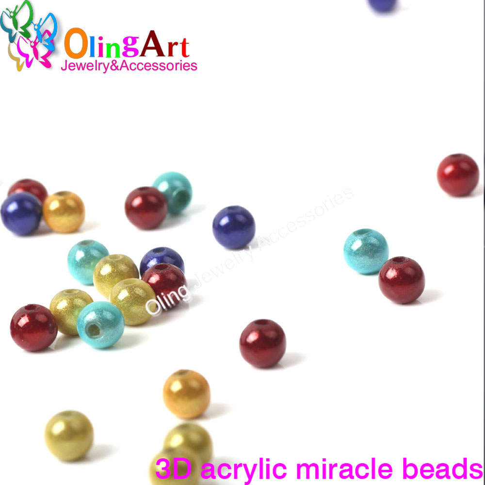 Btfbes Top Quailty Acrylic Candy Color 6 8 10mm Round Ball Mix Loose Beads For Jewelry Bracelet Handicrafts Making Diy Accessory Attractive Designs; Jewelry & Accessories Beads